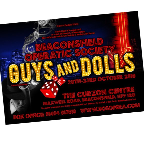 Guys and Dolls Theatrical Poster